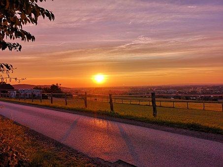 Wanderwärts, Sunset, Fields, Preußisch Oldendorf