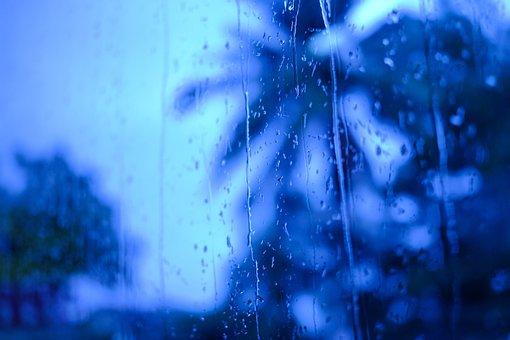 Background, Rain, Blue, Mood, Wet, Water, Raindrop