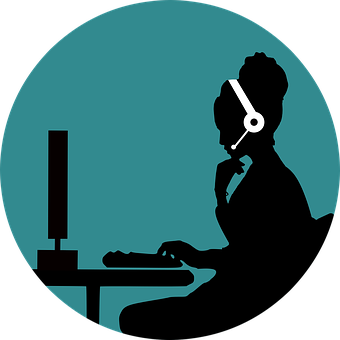 Call, Customer, Support, Woman, Silhouette, Head, Face