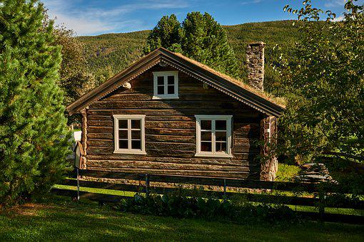 House, Woodhouse, Building, Hut, Old, Sky, Idyll