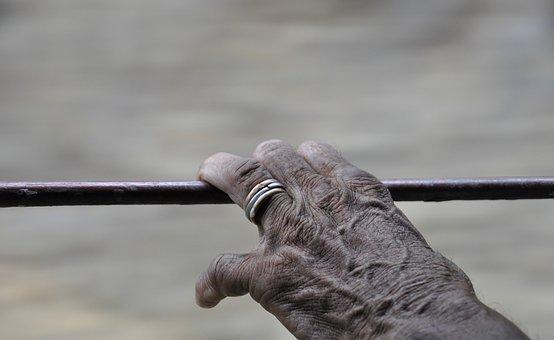Hand, Skin, Wrinkles, Hands, People, Trip, Train, India