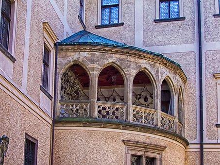 Balcony, Stone, Arches, Architecture, Window