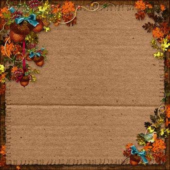 Autumn, Harvest, Scrapbooking, Background, Paper