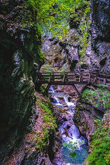 Wolf Gorge, Stans, Tyrol, Clammy, Bach, Bridge, Gorge