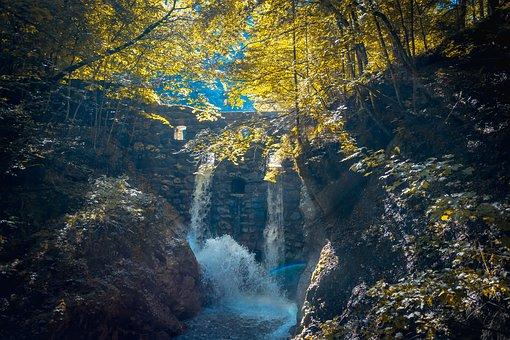 Wolf Gorge, Stans, Tyrol, Clammy, Bach, Water, Sidewalk