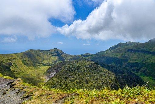 Volcano, La Soufriere Volcano, Cloud, Cloud Cover, Hike