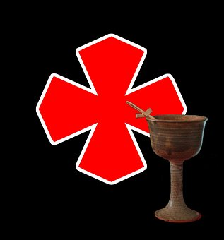 Goblet, Chalice, Crusades, Cross Of Saint George, Holy