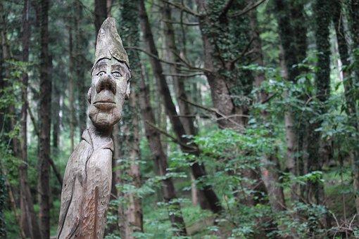 Gnome, Forest, Fantasia, Nature, Atmosphere, Magic
