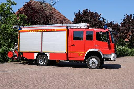 Fire, Fire Truck, Blue Light, Fire Fighting, Use