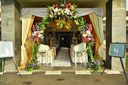 Wedding, Decoration, Flowers, Roses, Elegant, Romantic