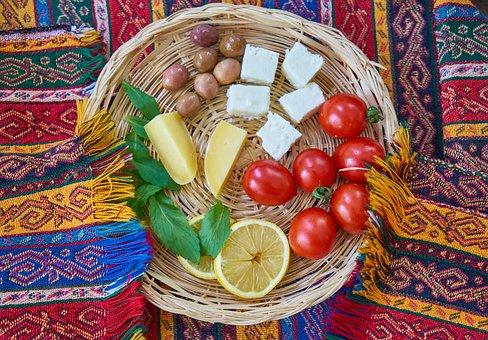 Breakfast, Basket, Vegetables, Fruit, Vegan, Vegetarian