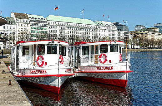 Hamburg Alster Lake, White Fleet, Four Seasons
