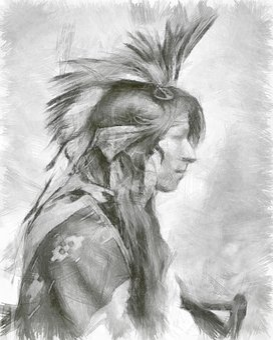Indian, Pencil, Man, Heritage, Culture, Solitude