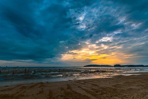 Thailand, Krabi, Sky, Nature, Island, Sea, Landscape