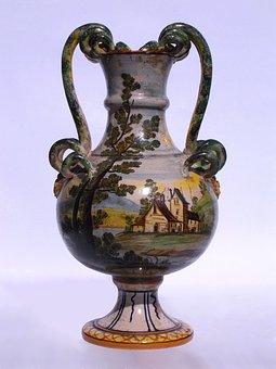 Italian Maiolica, Vase, Ceramic