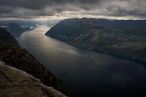 Fjord, Norway, Landscape, Nature, Water, Mountains