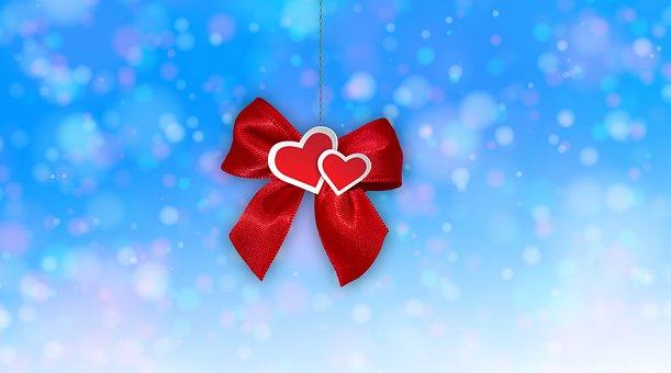 Loop, Heart, Gift, Bokeh, Pair, Christmas, Give, Love