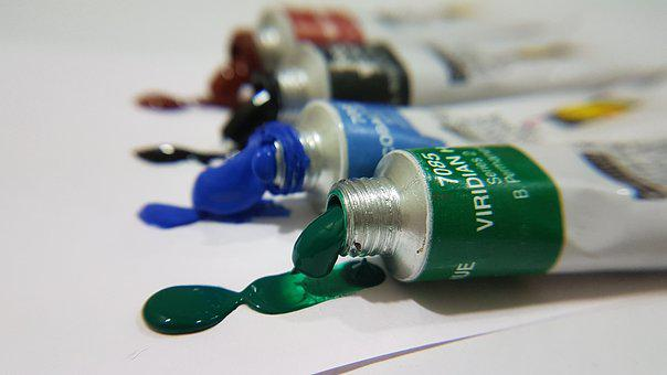 Colorful, Green, Colors, Paint, Watercolors