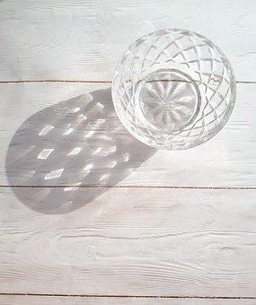 Shadow, Vase, Still Life, Crystal, Pattern