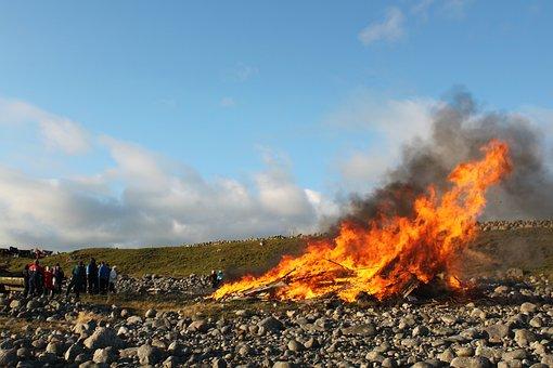 Campfire, His St, S Day, People, Evening, Jæren