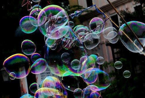 Soap Bubbles, Soap, Blow, Bubble, Fun, Play, Children
