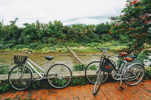 Laos, Bicycle, Luang Prabang, River