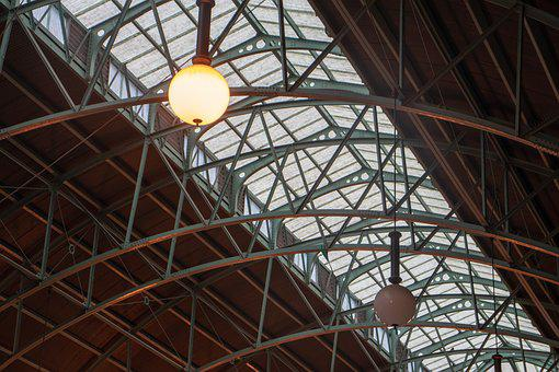 Roof, Lights, Arch, Architecture, Building, Steel