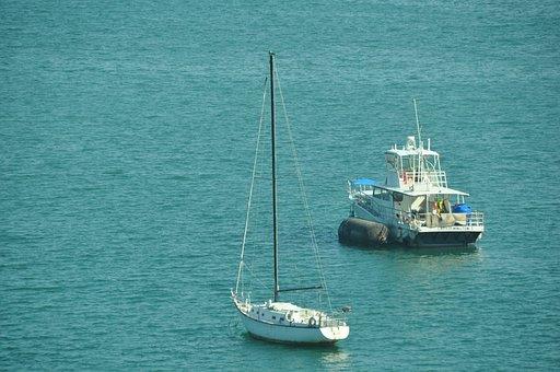 Sail Boat, Sea, Water, Sailing, Blue, Vessel, Nautical