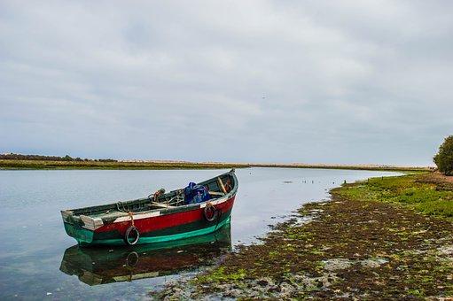 Boat, Sea, Ocean, Water, Sky, Nature, Lake, Blue