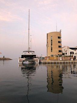Sea, Boat, Landscape, Ocean, Water, Nature, Vacation