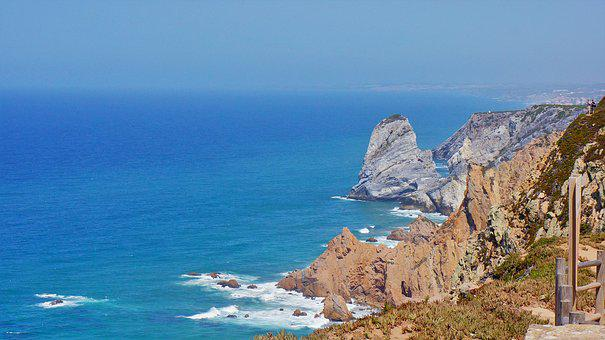 Cape, Cabo Da Roca, The End Of Europe, Sea, The Coast