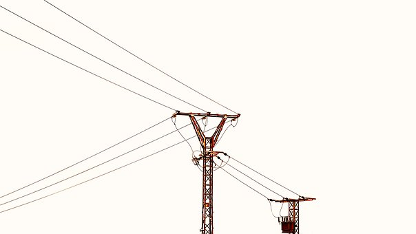 High-tension Towers, Silhouettes, Electricity, Torres