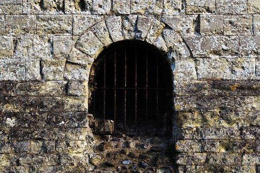 Dungeon, Stone, Tunnel, Gate, Arch, Underground, Wall