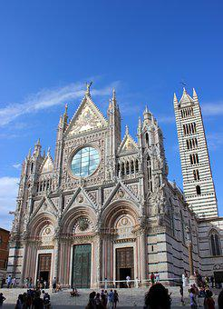 Duomo, Gothic, Cathedral, Siena, Tuscany, Monument