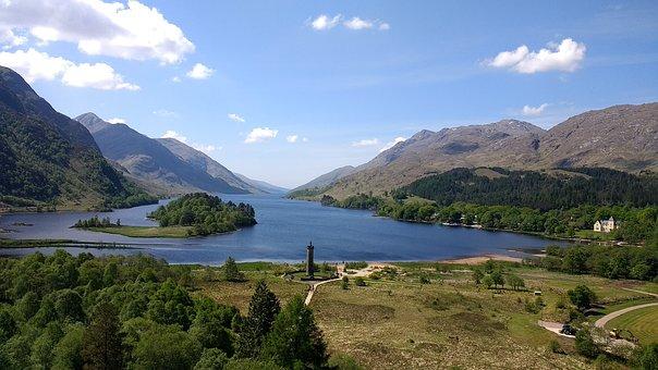 Scotland, Travel, Nature, Landscape, Water, Mountains