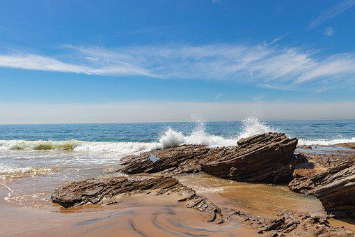 Crystal Cove State Park, Corona Del Mar, Beach, Waves