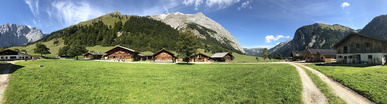 Ahornboden, Nature, Engalm, Sky, Mountain, Landscape