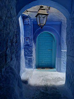Blue, City, Morocco, Chefchaouen, Architecture, Old