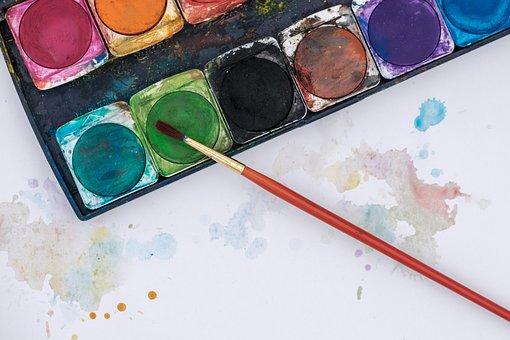 Color, Watercolor, Watercolour, Malkasten, Brush, Art
