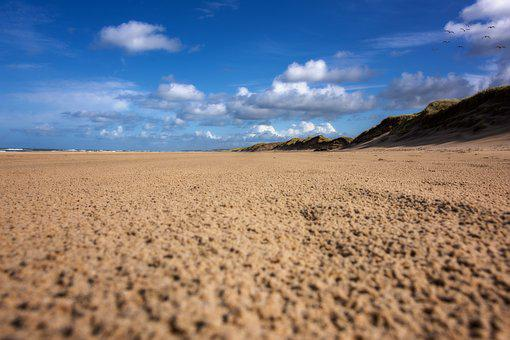 Sun, North Sea, Beach, Dune, Vacations, Coast, Denmark