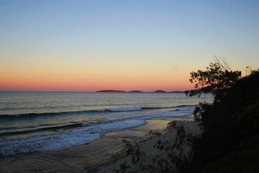 Australia, Rainbow Beach, Water, Beach, Nature, Coast
