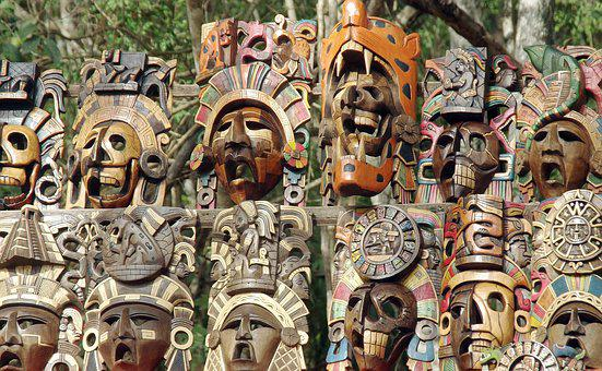 Mexico, Market, Masks, Tradition, Ethnic, Crafts, Color