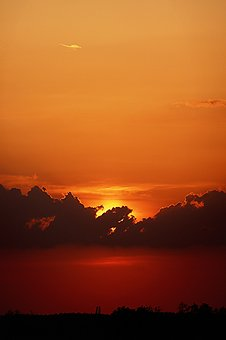 Sunset, Day S, In The Evening, Nature, Landscape, Cloud