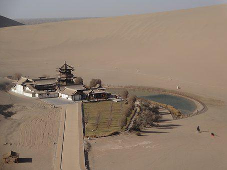 Desert, Dunhuang, Crescent Lake