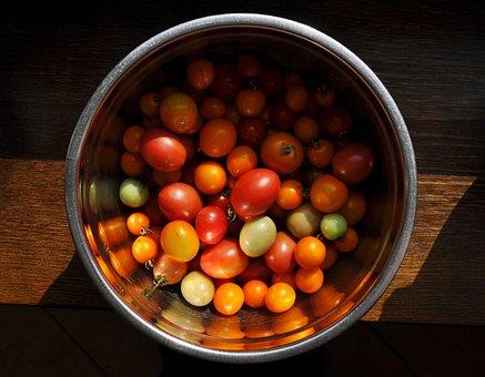 Tomatoes, Bowl, Vegetables, Eating, Fresh, Vitamins