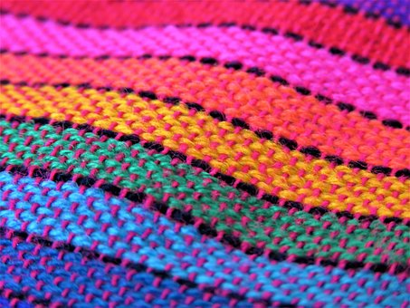 Fabric, Pattern, Texture, Cloth, Stripes, Rainbow