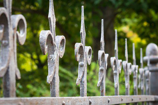 Fence, Cast Iron, Fencing, Border, Blacksmithing
