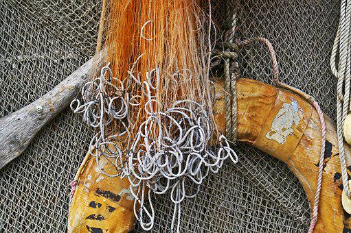 Lifebelt, Fishing Net, Fishing, Web, Fisherman, Water