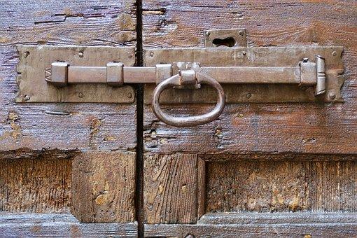 Door Handle, Door, Gate, Input, Old, Metal Handle