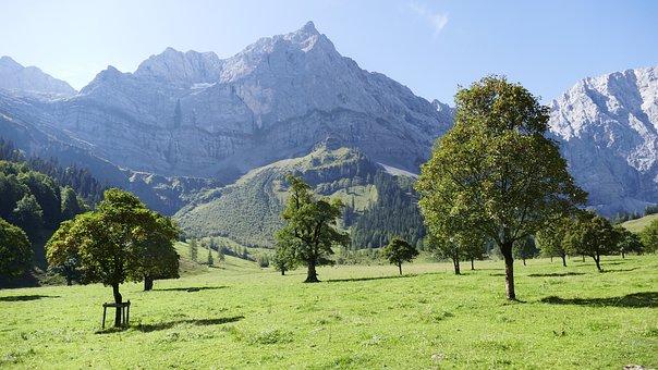 Almdorf Eng, Austria, Nature, Landscape, Alpine, Sky